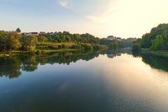 Medival Schloss Ozalj in der Stadt Ozalj, Kroatien lizenzfreies stockfoto
