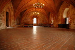 Medival Schlossraum Stockbild