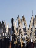 Medival spears. Group of medival spears stacked by each other Royalty Free Stock Images