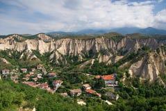 Medival Village. The medival village of Melnik. no`1 wine producing village in bulgaria Royalty Free Stock Photos