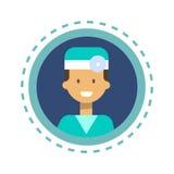 Medizin-Arbeitskraft-on-line-Beratungs-Knopf Arzt-Icon Clinics Hospital Lizenzfreie Stockfotografie