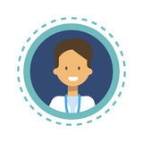 Medizin-Arbeitskraft-on-line-Beratungs-Knopf Arzt-Icon Clinics Hospital Stockfotografie