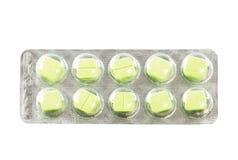 Medizin in den Blisterpackungen lokalisiert auf weißem Hintergrund Lizenzfreies Stockbild
