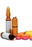 Medizin in den Tabletten und in den Kapseln Stockbilder