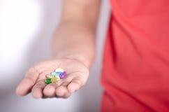 Medizin in der Hand Lizenzfreie Stockbilder