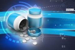 Medizin-Flasche und Pillen vektor abbildung