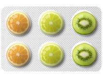 Medizin mit Früchten Lizenzfreies Stockbild