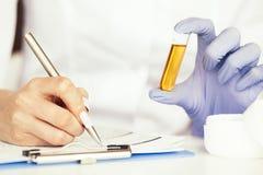 medizin Natürliche organische Medizin und Gesundheitswesen, alternative Betriebsmedizin, Mörser und Kräuterextraktion herein stockfoto