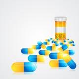 Medizin-Pillen lizenzfreie abbildung