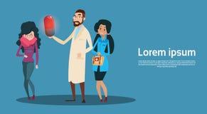 Medizin-Sorgfalt Arzt-Team Examinig Patient Clinic Hospital Stockfotos