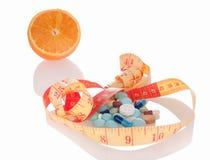 Medizin und Diät, zum des Gewichts zu verlieren Stockfotografie