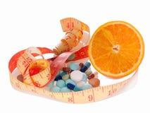 Medizin und Diät, zum des Gewichts zu verlieren Lizenzfreie Stockbilder