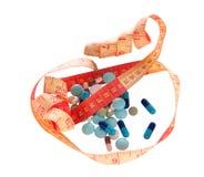 Medizin und Diät, zum des Gewichts zu verlieren Lizenzfreie Stockfotos