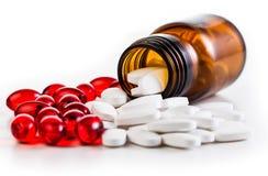 Medizin und Drogenpillen Stockbild