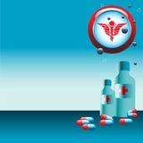 Medizinflaschen und -pillen Stockbild