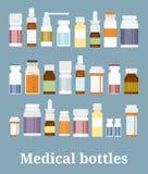 Medizinflaschensammlung lizenzfreie abbildung