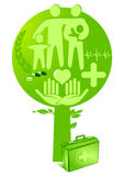 Medizingesundheitsbaum Stockfoto