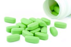 Medizinglas und -pillen Lizenzfreie Stockfotografie
