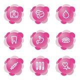 Medizinikonen, rosafarbene Serie vektor abbildung