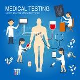 Medizinische Überprüfung Infographics lizenzfreies stockbild
