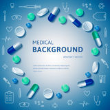 Medizinische abstrakte backgrouns Lizenzfreie Stockfotos