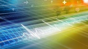 Medizinische abstrakte Nachrichten-Hintergrund-Konzept-Reihe 43 stock abbildung