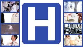 Medizinische Arbeitszusammensetzung, Krankenhaus stock video footage