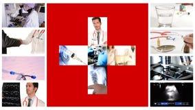 Medizinische Arbeitszusammensetzung, Krankenhaus stock video