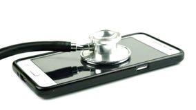Medizinische Ausrüstung und Telekommunikation Stockbild