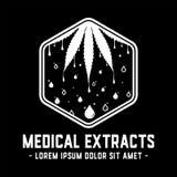 Medizinische Auszüge entwerfen Schablone Medizinischer Ölvektor und -illustrationen stock abbildung