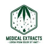 Medizinische Auszüge entwerfen Schablone Medizinischer Ölvektor und -illustrationen lizenzfreie abbildung