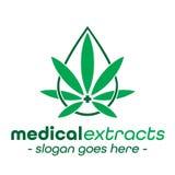 Medizinische Auszüge entwerfen Schablone Medizinischer Ölvektor und -illustrationen vektor abbildung
