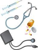 Medizinische Bedarfe lizenzfreie abbildung