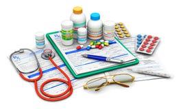 Medizinische Bedarfe und Verordnungsformen stock abbildung