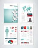 Medizinische Broschüre Infographics Stockfotografie