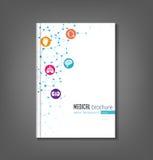 Medizinische Broschüren-Schablone lizenzfreie abbildung