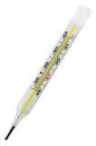 Medizinische Celsius Celsiusglasskala des Thermometers stockfotos
