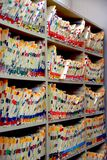 Medizinische Dateien stockbild