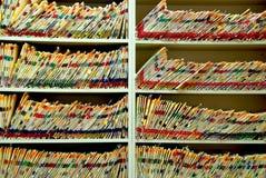 Medizinische Dateien Stockfotos