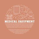 Medizinische Diagnose, Überprüfungsgrafikdesignkonzept lizenzfreie abbildung