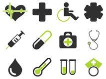 Medizinische einfach Ikonen Lizenzfreie Stockfotografie