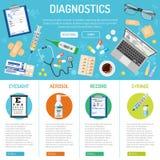 Medizinische Fahne und infographics Lizenzfreie Stockfotografie