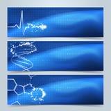 Medizinische Fahnen oder Websitetitelsatz Stock Abbildung