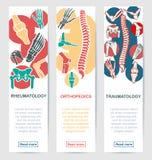 Medizinische Fahnenschablone für Gesundheitswesendesign Stockfotografie