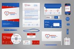 Medizinische Firmenunternehmensidentitä5s-Brandingschablone Stockbilder