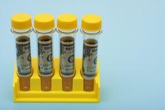Medizinische Forschungs-Kosten Stockfoto