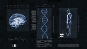 Medizinische futuristische Schnittstelle stock abbildung