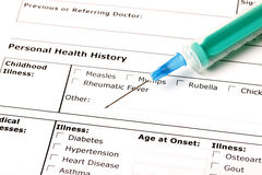 Medizinische Geschichte Lizenzfreies Stockfoto