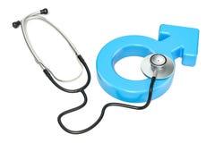 Medizinische Hilfe für Mannkonzept Wiedergabe 3d stock abbildung