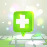 Medizinische Ikone des Netzes für Kartenanwendung lizenzfreie abbildung